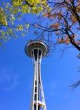 Aiguille de l'espace de Seattle au printemps Images libres de droits