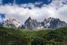 Aiguille de Midi, Chamonix, France stock photos