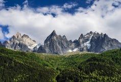 Aiguille de Midi, Chamonix-Mont-Blanc Fotografia Stock Libera da Diritti