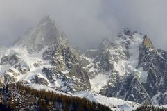 Aiguille du Chamonix Stock Photos