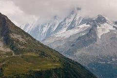Aiguille du Chardonnet massif Stock Images