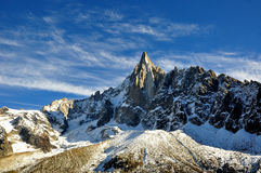 Aiguille du Dru in the Montblanc massif, French Alps Royalty Free Stock Images