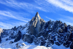 Aiguille du Dru in the Montblanc massif, French Alps Royalty Free Stock Photos