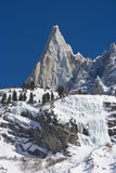 Aiguille du Dru mountain of the Mont Blanc Massif Royalty Free Stock Photography