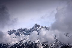 Aiguille du Midi. Stock Photo