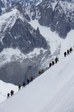 The Aiguille du Midi Royalty Free Stock Photography