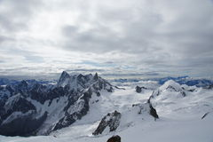 The Aiguille du Midi Stock Photography