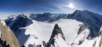 Aiguille du midi Stock Photos