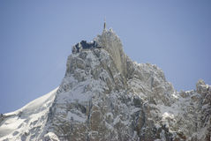 Aiguille Du Midi. View of Aiguille Du Midi from Chamonix - landscape orientation Stock Photography