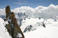 Aiguille du Midi (alpi) Immagini Stock Libere da Diritti