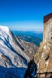 Aiguille du Midi, alpi francesi, Chamonix-Mont-Blanc, Francia Immagine Stock