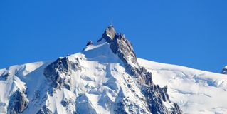 Aiguille Du Midi, Alps, Chamonix, France Stock Photography