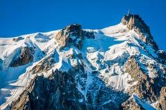 Aiguille du Midi, 3 altezze di 842 m., alpi francesi, Chamonix-Mont-Blanc, Francia Fotografia Stock