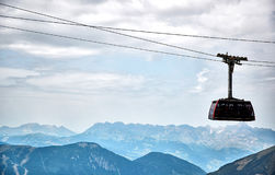 The Aiguille du Midi cable car. Chamonix, France Stock Photography