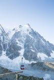 Aiguille du Midi cable car Stock Photography