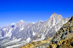 Aiguille du midi in Chamonix Royalty Free Stock Images