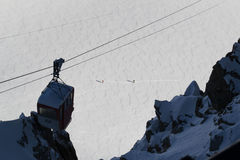 Aiguille du Midi, Chamonix, France Imagens de Stock Royalty Free