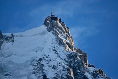Aiguille du Midi - Chamonix Mont-Blanc stock foto's