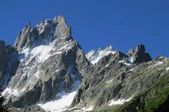 Aiguille du Midi, Chamonix-Mont-Blanc, alpi francesi Immagini Stock Libere da Diritti