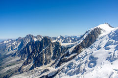 Aiguille du midi. Clasic route to mont blanc, on Alps, Chamonix Royalty Free Stock Photography