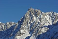 Aiguille du Midi di Mont Blanc Fotografia Stock Libera da Diritti