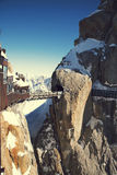 Aiguille du Midi di punta, CHAMONIX-MONT-BLANC, Francia Altitudine: 3842 metri Fotografia Stock Libera da Diritti