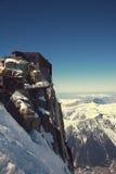 Aiguille du Midi di punta, CHAMONIX-MONT-BLANC, Francia Altitudine: 3842 metri Immagine Stock Libera da Diritti