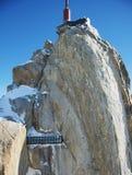 Aiguille du Midi di punta, CHAMONIX-MONT-BLANC, Francia Altitudine: 3842 metri Immagine Stock