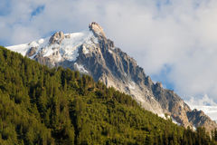 Aiguille du Midi at dusk Royalty Free Stock Image