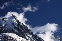 Aiguille du Midi et Mont Blanc photographie stock libre de droits