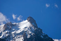 Aiguille du Midi, Francia Fotografia Stock Libera da Diritti