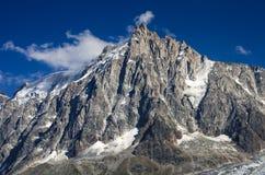 Aiguille du Midi, Mont Blanc i Frankrike Arkivbilder