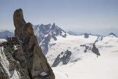 Aiguille du Midi,3842m, Mont Blanc Massif, France . Royalty Free Stock Photos
