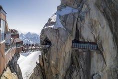 Aiguille du Midi,3842m, Mont Blanc Massif, France . Stock Photos