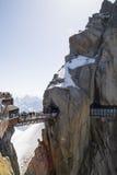 Aiguille du Midi, 3842m, Mont Blanc Massif, Frankrijk royalty-vrije stock fotografie