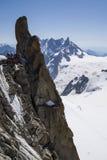 Aiguille du Midi, 3842m, Mont Blanc Massif, Frankrijk royalty-vrije stock afbeeldingen