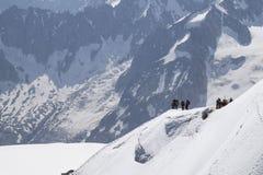 Aiguille du Midi, massiccio di Mont Blanc, alpi francesi Immagine Stock
