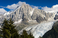 Aiguille du Midi, Mont Blanc in France Royalty Free Stock Image