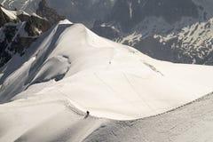 Aiguille du Midi, Mont Blanc-massief, Franse Alpen stock afbeelding