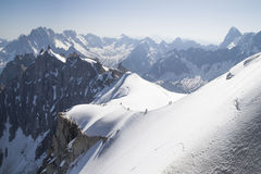 Aiguille du Midi , Mont Blanc massif , French Alps. Stock Photo