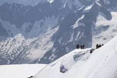Aiguille du Midi , Mont Blanc massif , French Alps. Stock Image