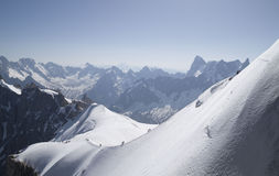 Aiguille du Midi, Mont Blanc masyw, Francuscy Alps zdjęcie stock