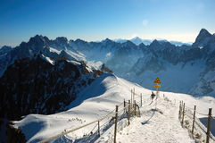 Aiguille du Midi panorama Royalty Free Stock Photography