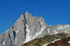 Aiguille du midi peak in Chamonix Stock Photo