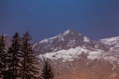 Aiguille Du Midi peak, French Alps Royalty Free Stock Photo