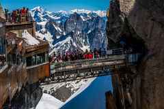 Aiguille du Midi Platform,2-AUGUST 2013 France, Europe Stock Images
