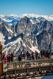 Aiguille du Midi Platform,2-AUGUST 2013 France, Europe Royalty Free Stock Photo