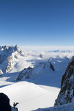 Aiguille du Midi view Stock Photography