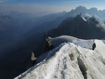 Aiguille du Midi. View from Aiguille du Midi Royalty Free Stock Images