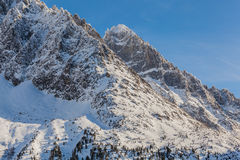Aiguille du Moine Peak, French Alps Royalty Free Stock Image